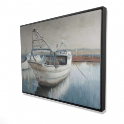 Framed 36 x 48 - 3D - Fishing boat desatured