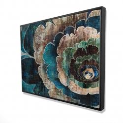 Framed 36 x 48 - 3D - Blue flower montage
