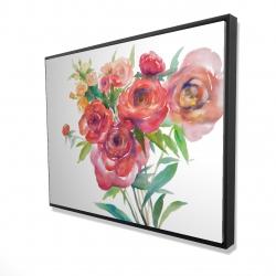 Framed 36 x 48 - 3D - Watercolor bouquet of flowers