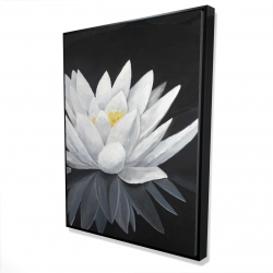 Framed 36 x 48 - 3D - Lotus flower with reflection
