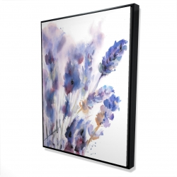 Framed 36 x 48 - 3D - Watercolor lavender flowers with blur effect