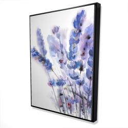 Framed 36 x 48 - 3D - Watercolor lavender flowers