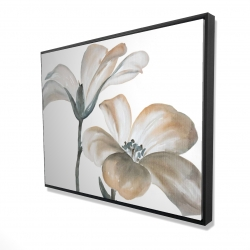 Framed 36 x 48 - 3D - Beautiful desaturated flowers