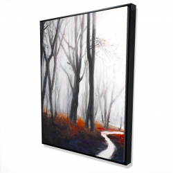 Framed 36 x 48 - 3D - Mysterious forest with stream