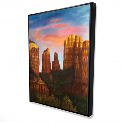 Framed 36 x 48 - 3D - Cathedral rock in arizona