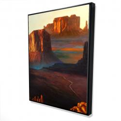 Framed 36 x 48 - 3D - Monument valley tribal park in arizona