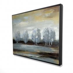 Framed 36 x 48 - 3D - Grey landscape