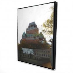 Framed 36 x 48 - 3D - Le château de frontenac in autumn
