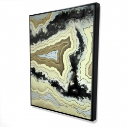 Framed 36 x 48 - 3D - Lace agate