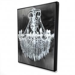 Framed 36 x 48 - 3D - Big glam chandelier