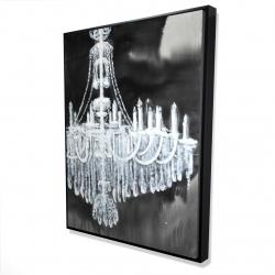 Framed 36 x 48 - 3D - Glam chandelier