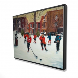 Framed 36 x 48 - 3D - Young hockey players