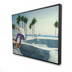 Framed 36 x 48 - 3D - Skate park california