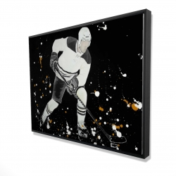 Framed 36 x 48 - 3D - Hockey player in action