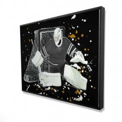 Framed 36 x 48 - 3D - Goalkeeper hockey