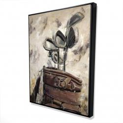 Framed 36 x 48 - 3D - Vintage sticks and golf bag