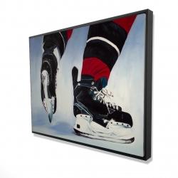 Framed 36 x 48 - 3D - Hockey player