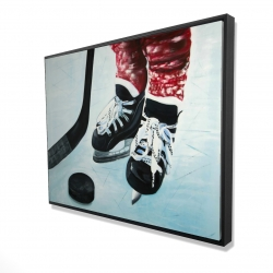 Framed 36 x 48 - 3D - Young hockey player
