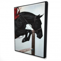 Framed 36 x 48 - 3D - Riding competition