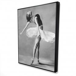 Framed 36 x 48 - 3D - Classic ballet dancer