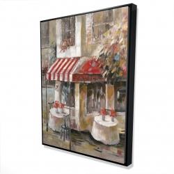 Framed 36 x 48 - 3D - Sunny restaurant terrace