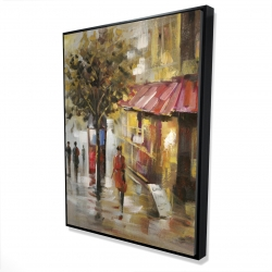 Framed 36 x 48 - 3D - Abstract street with passers
