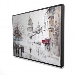 Framed 36 x 48 - 3D - Gray city street