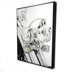 Framed 36 x 48 - 3D - Motorcycle light