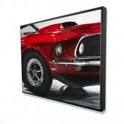 Framed 36 x 48 - 3D - Classic red car