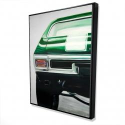 Framed 36 x 48 - 3D - Classic dark green car
