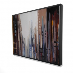 Framed 36 x 48 - 3D - Abstract buildings