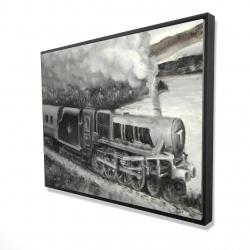 Framed 36 x 48 - 3D - Vintage passenger locomotive