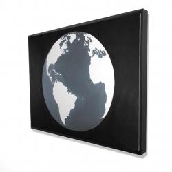 Framed 36 x 48 - 3D - Earth satellite view