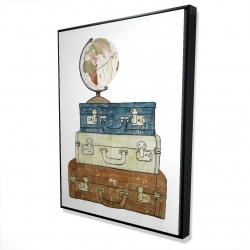 Framed 36 x 48 - 3D - Go around the world