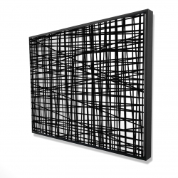 Framed 36 x 48 - 3D - Abstract small stripes