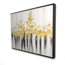 Framed 36 x 48 - 3D - Abstract gold flowers
