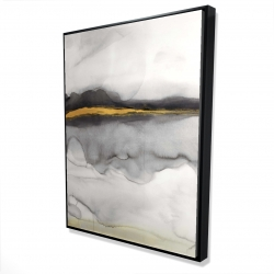 Framed 36 x 48 - 3D - Gold stripe abstract