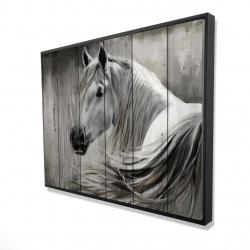 Framed 36 x 48 - 3D - Rustic horse