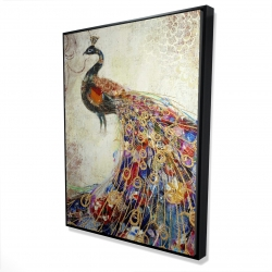 Framed 36 x 48 - 3D - Majestic peacock