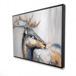 Framed 36 x 48 - 3D - Golden deer