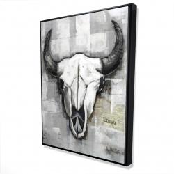 Framed 36 x 48 - 3D - Industrial style bull skull