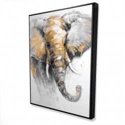 Framed 36 x 48 - 3D - Beautiful golden elephant