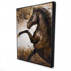 Framed 36 x 48 - 3D - Horse rushing into the soil