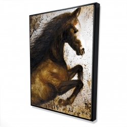 Framed 36 x 48 - 3D - Horse rushing into the dust