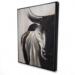 Framed 36 x 48 - 3D - Bull head front view
