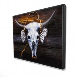 Framed 36 x 48 - 3D - Hanged bull skull