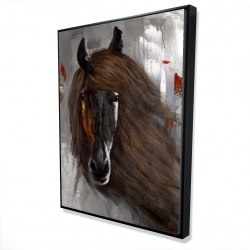 Framed 36 x 48 - 3D - Proud brown horse