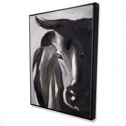 Framed 36 x 48 - 3D - Bull head closeup