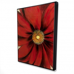 Framed 36 x 48 - 3D - Red daisy