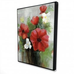 Framed 36 x 48 - 3D - Abstract wild flowers bundle